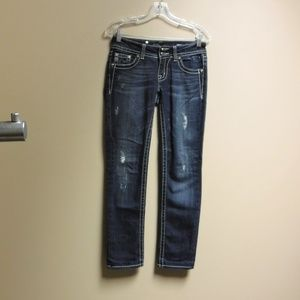 Miss Me Distressed Skinny Jeans Size 27
